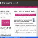 The Heating Expert website front page