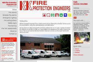 K&K Fire Protection Engineers website